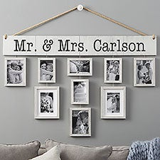 Personalized Hanging Picture Frames Set - Our Wedding - 23458