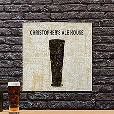 Personalized Beer Art Canvas Prints - Cheers For Beers Pilsner - 23487