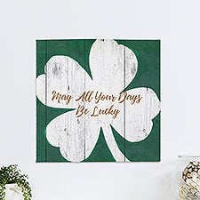 Luck Of The Irish Personalized Canvas Print - 23495