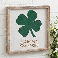 Luck Of The Irish Personalized Barnwood Frame Wall Art - 23499