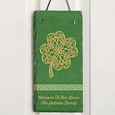 Celtic Charm Personalized Vertical Slate Sign - 23504