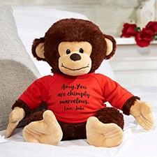 Personalized Plush Monkey Stuffed Animal - 23516