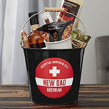 New Dad Survival Kit Personalized Metal Bucket - 23520