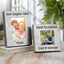 Galvanized Metal Box Picture Frames for Dad, Grandpa - 23544