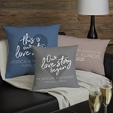 Our Love Story Personalized Throw Pillows - 23559
