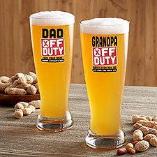 Off Duty Father's Day Personalized Barware Collection - 23564