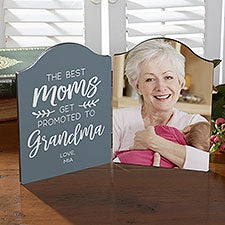 Best Moms Get Promoted Personalized Photo Plaque - 23586