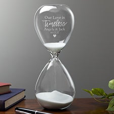 Our Love Is Timeless Personalized Hourglass Gift - 23680
