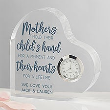 Personalized Heart Shaped Clock Gift for Mom - 23685