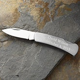 Stainless Steel Personalized Lockback Knife - 2369