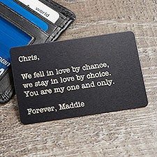 Personalized Metal Wallet Card Insert - Romantic Gift - 23751