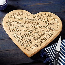 Personalized Heart Shaped Cutting Board - Close to Her Heart - 23768