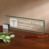 Personalized Desk Nameplate - Medical Practice Design - 2377