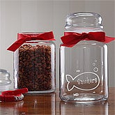 Personalized Good Kitty Treat Jar For Cats - 2379