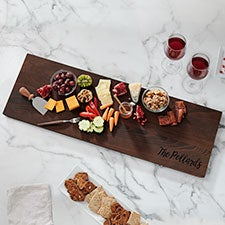 Maple Leaf Personalized 30-inch Thermal Ash Charcuterie Board - 23854D