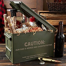 Personalized Metal Ammo Box for Dad - 23942