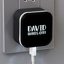 Personalized LED Dual Port USB Charger - 24093