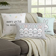 Bunny Family Personalized Throw Pillows - 24126