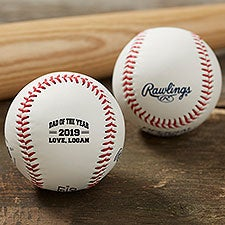 Dad of the Year Personalized Rawlings Baseball - 24147