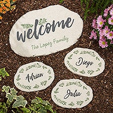 Cozy Home Personalized Garden Stepping Stones - 24157
