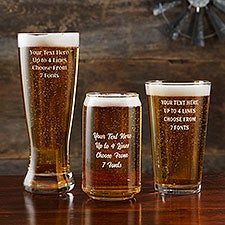 Personalized Beer Glasses - Add Any Text - 24174