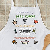 Recipe for a Happy Household Personalized Apron & Potholder - 2419