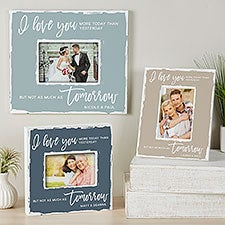 I Love You More Today Than Yesterday Personalized Box Picture Frame - 24228