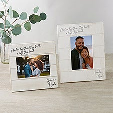 And So Together They Built a Life They Loved Personalized Picture Frame - 24261