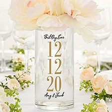 The Big Day Personalized Wedding Centerpiece Vase - 24289