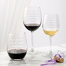 Personalized Wine Glasses - Add Any Text - 24320