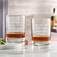 Personalized Whiskey Glasses - Add Any Text - 24321