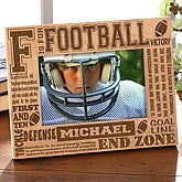Personalized Football Picture Frame - 4x6 Photo - 2437