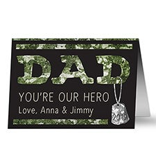 Dad Military Hero Personalized Father's Day Greeting Card - 24463