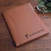 Engraved Leather Portfolio - Medical Design - 2453