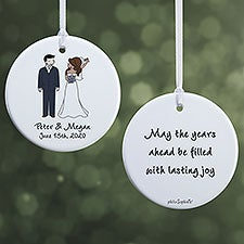 Wedding Couple Personalized Ornaments by philoSophie's - 24565
