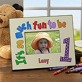 Personalized Kids Birthday Picture Frame - Happy Birthday to Me Design - 2472