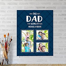Personalized Photo Canvas Tiles - This Dad Belongs To  - 24742