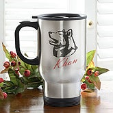 Personalized Stainless Steel Dog Breed Travel Mug - 2481