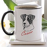 Personalized Dog Breed Ceramic Coffee Mug - 2482