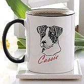 Personalized Dog Breed Ceramic Coffee Mug - 2482