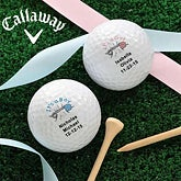 Custom Personalized New Baby Callaway Golf Balls
