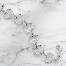 Loving Message Personalized Heart Bracelet - 24900