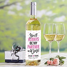 My Partner In Wine Personalized Valentine's Day Wine Label - 24977