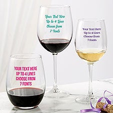 Custom Printed Wine Glasses - 24995