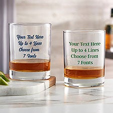Custom Printed 14oz Whiskey Glass - 24996