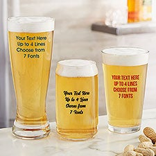 Custom Printed Beer Glasses - 24997