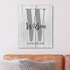 Personalized Shiplap Wall Art - Farmhouse Initial & Name - 25055