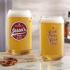 Brewing Co. Personalized 16oz Printed Beer Can Glass - 25130