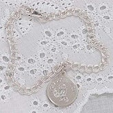 Personalized First Communion Sterling Charm Bracelet - 2516