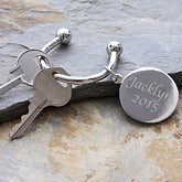 Engraved Key Ring - Guardian Angel Style - 2518